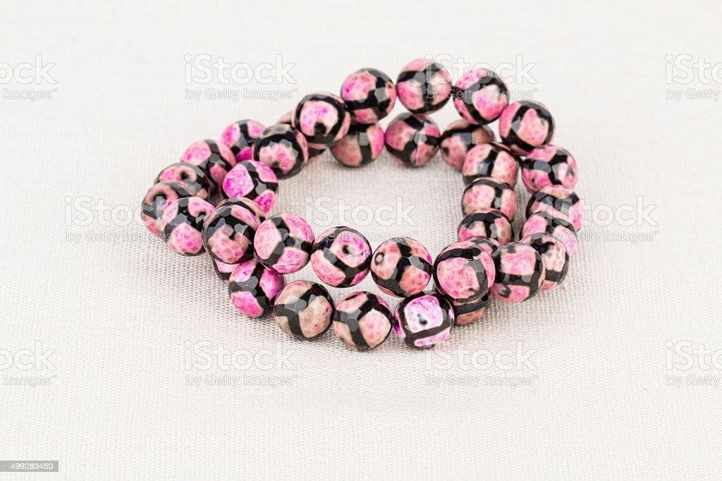 Beads jewelry. stock photo