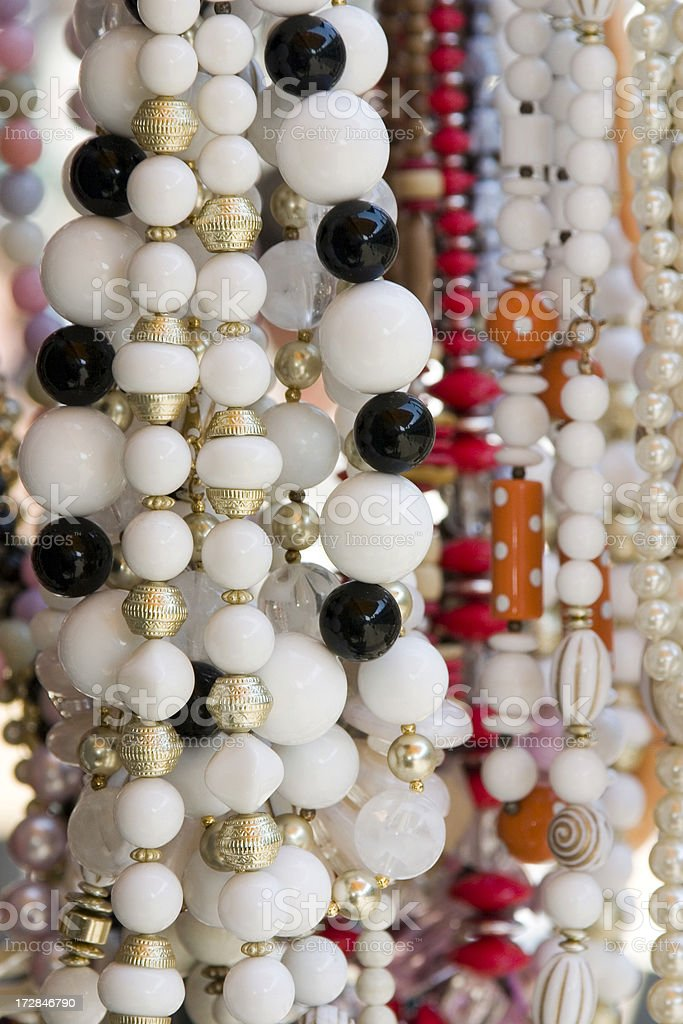 Beads necklaces royalty-free stock photo