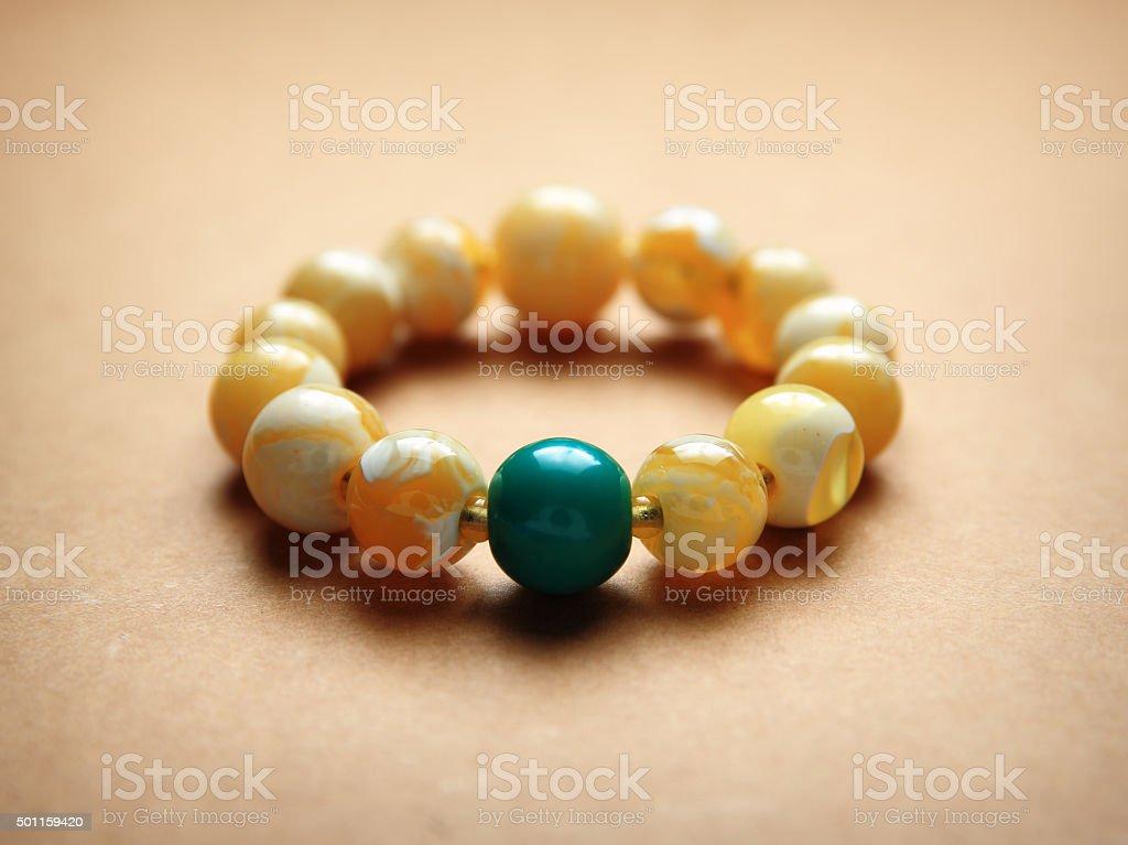 Beads prayer Bracelet stock photo