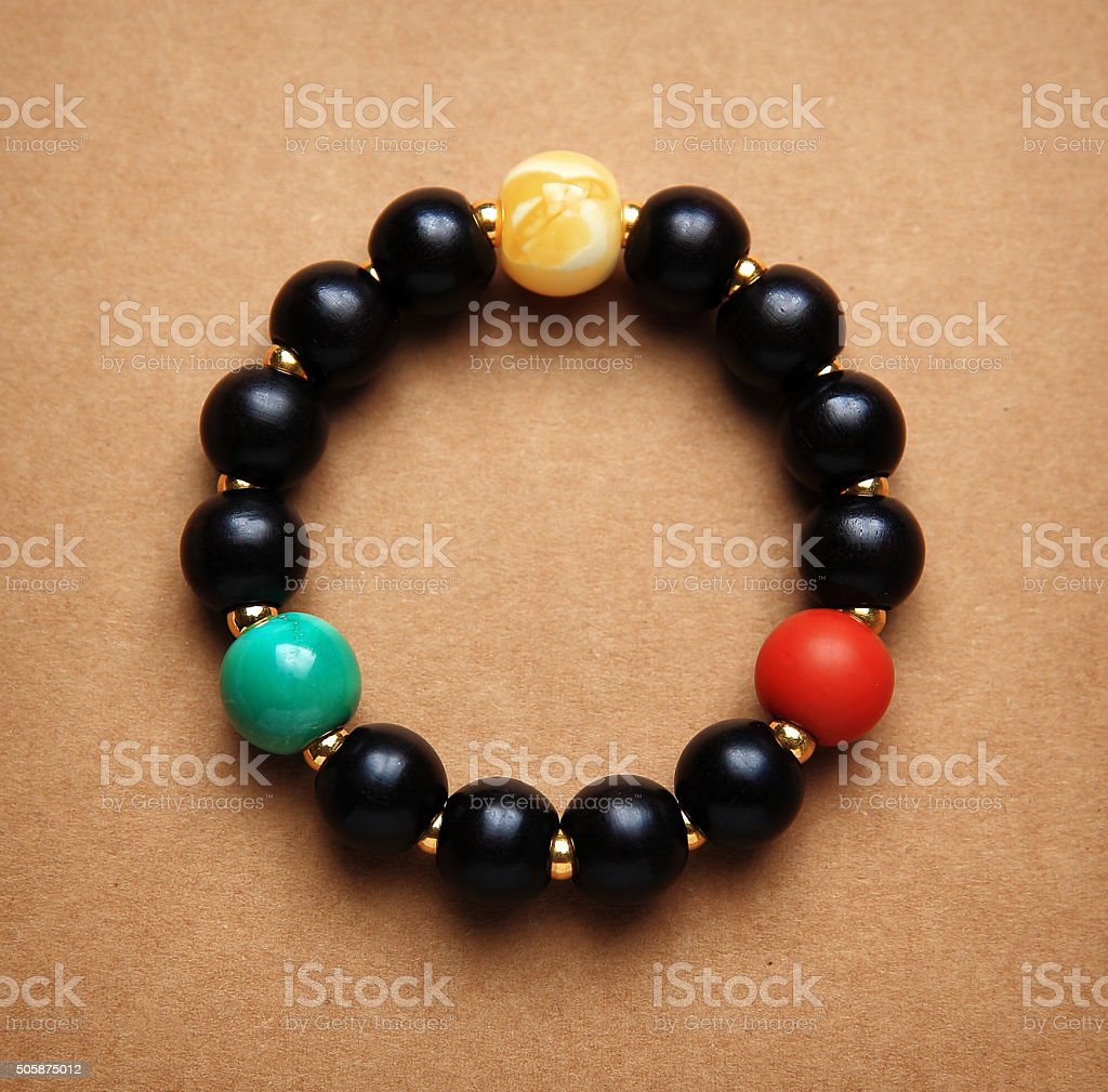 Beads prayer Bracelet stock photo