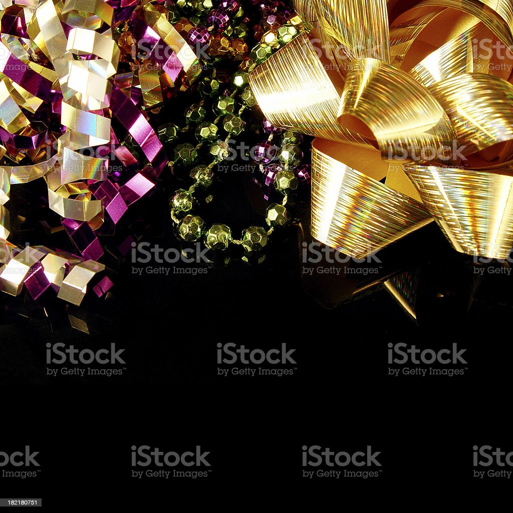 Beads, ribbons and bows royalty-free stock photo