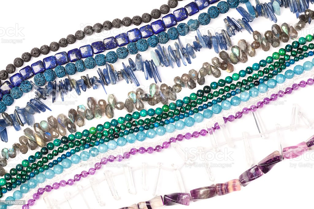 Beads strands royalty-free stock photo