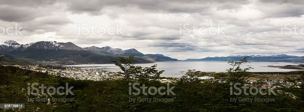 Beagle channel and Ushuaia (Argentina) stock photo