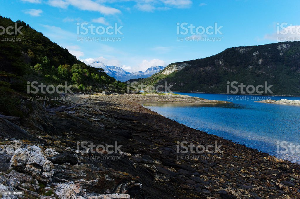 Beagle Channel in Patagonia stock photo