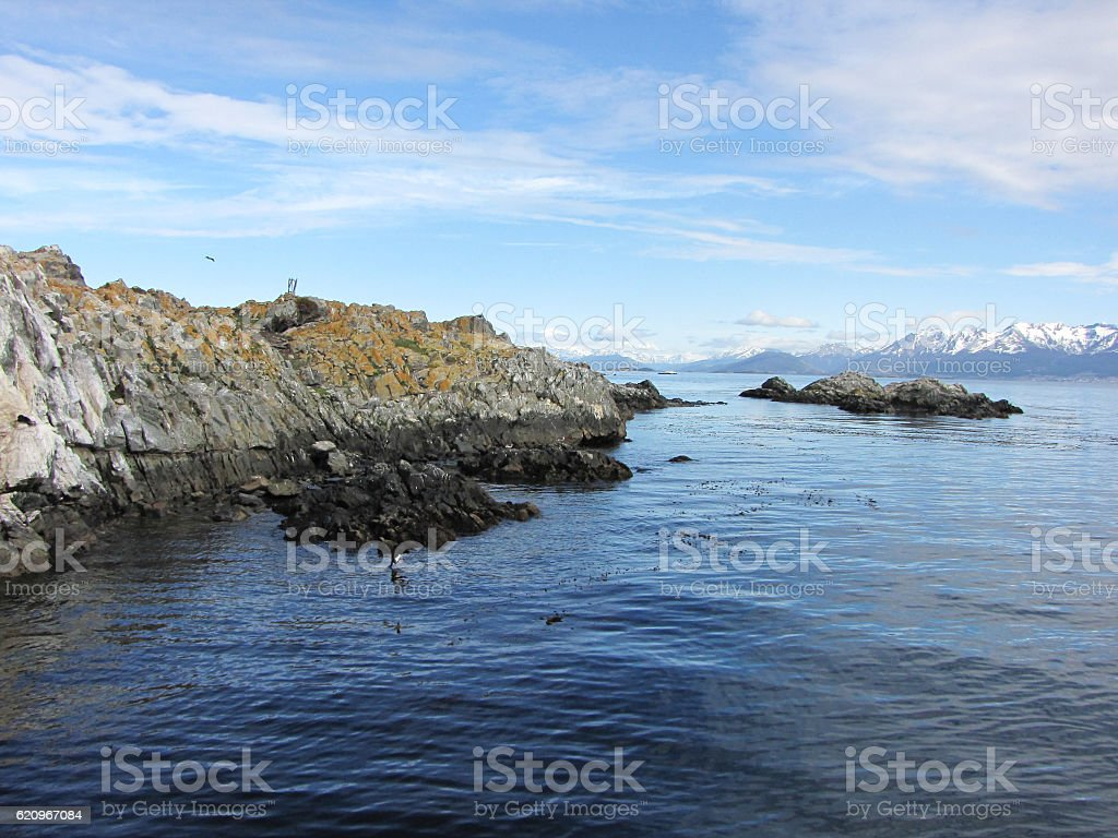 Beagle Channel - Ushuaia, Argentina stock photo