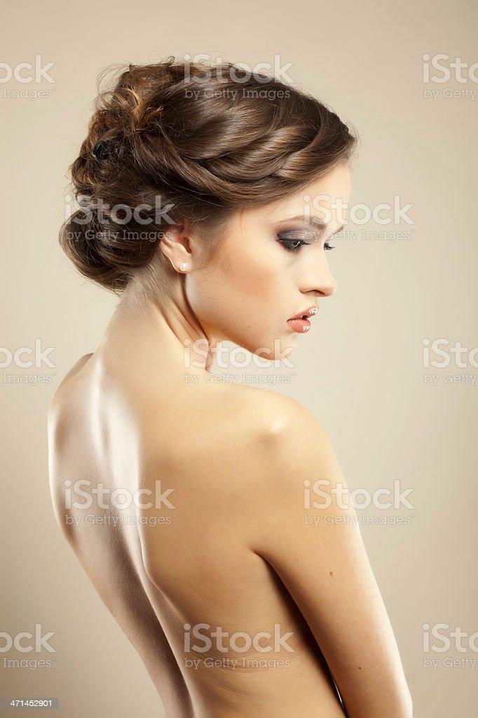 Beaitiful Brunette woman royalty-free stock photo