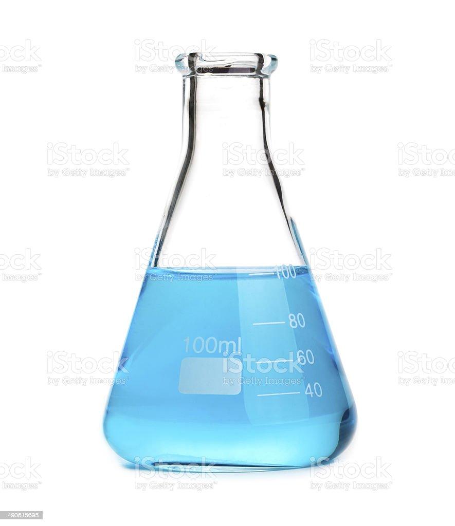 beaker isolated on white stock photo