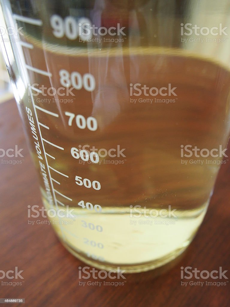 Beaker with volume labels royalty-free stock photo