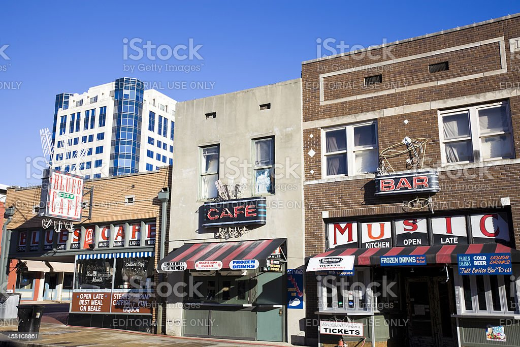 Beale Street in Memphis royalty-free stock photo