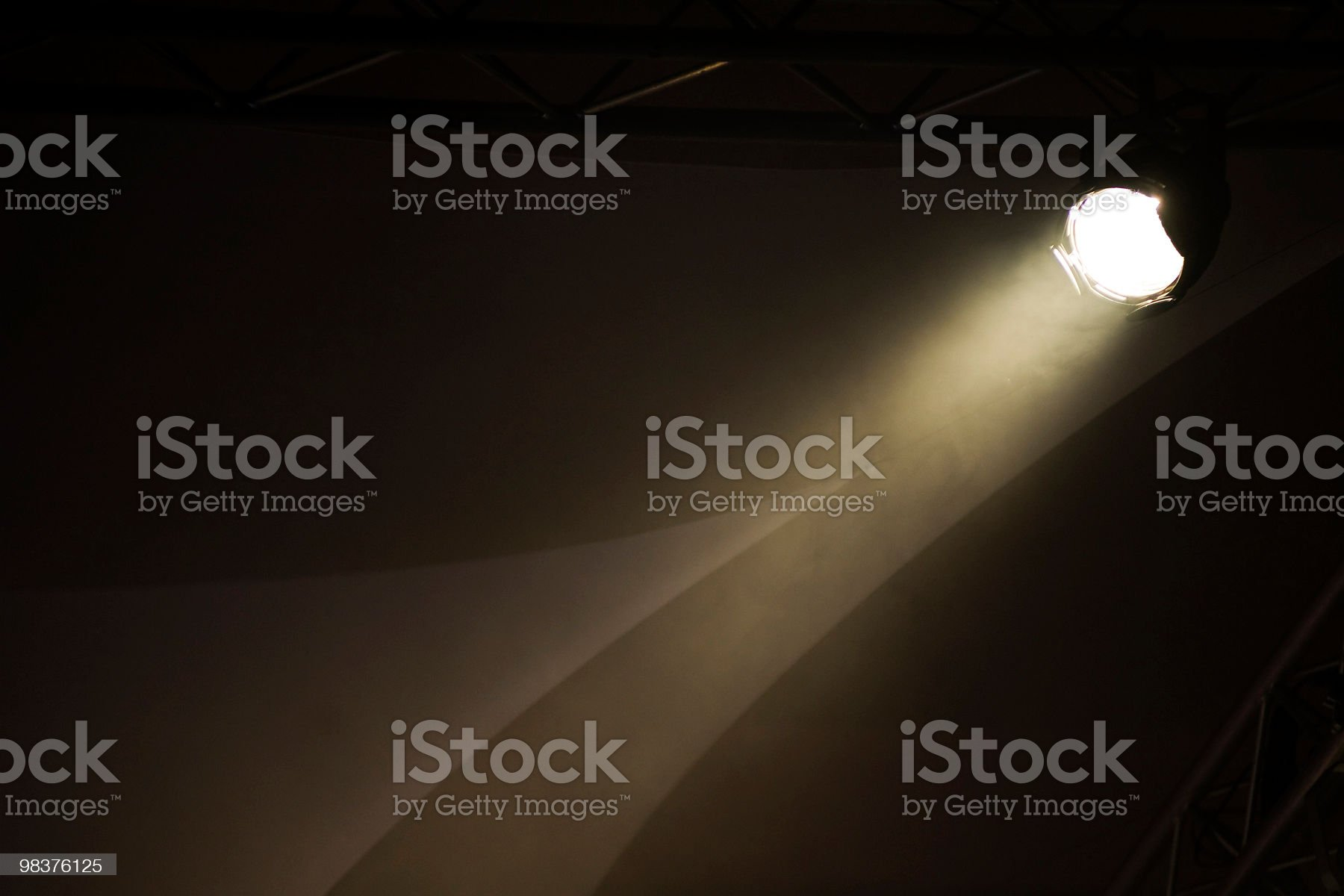 Beam From A Stage Light royalty-free stock photo