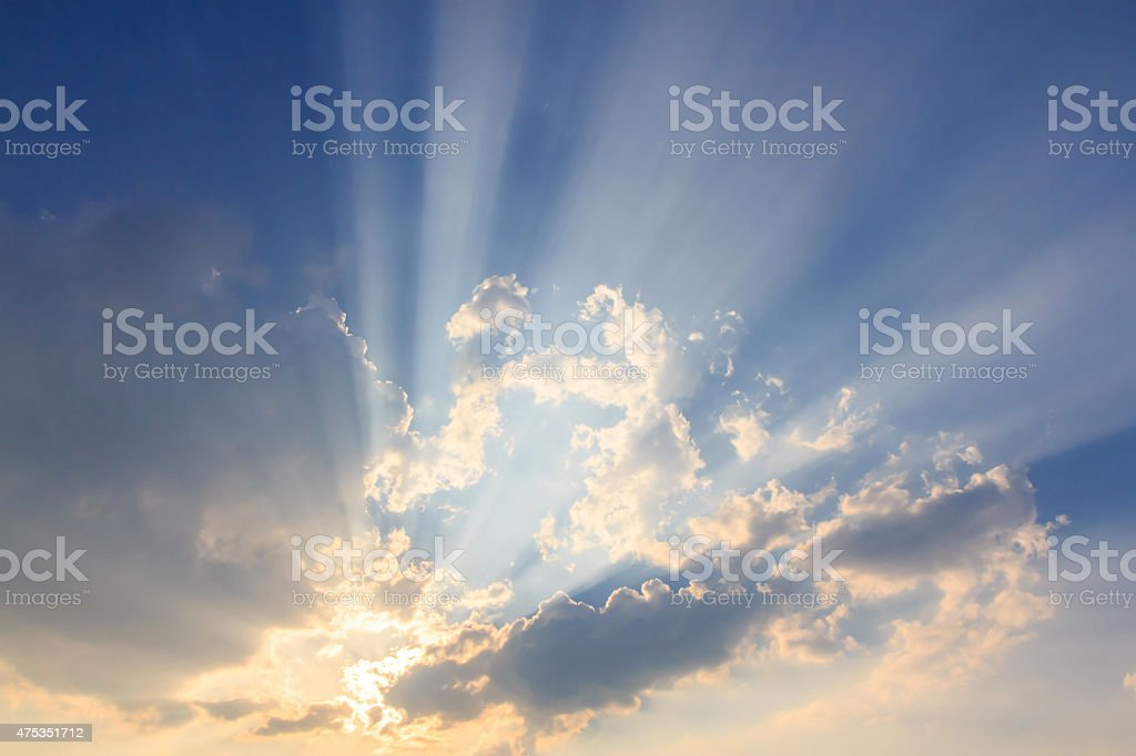 Beam of light and the clouds royalty-free stock photo