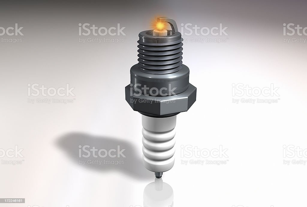 beam spark stock photo