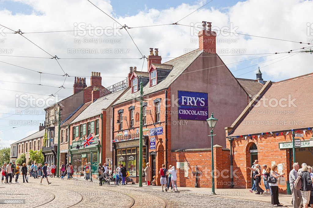 Beamish High Street stock photo