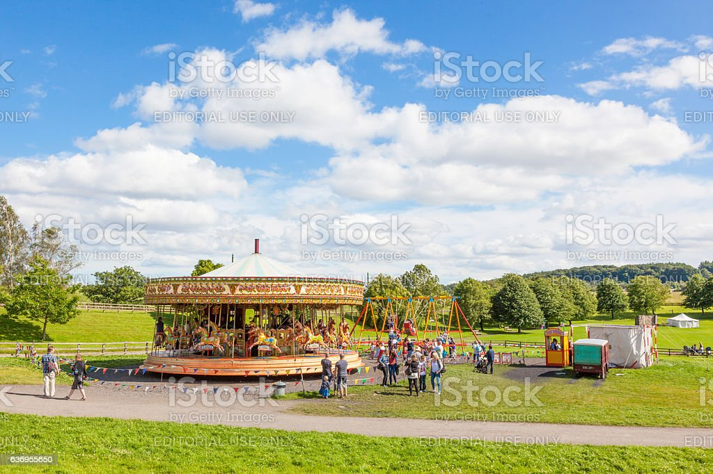 Beamish Steam Carousel stock photo