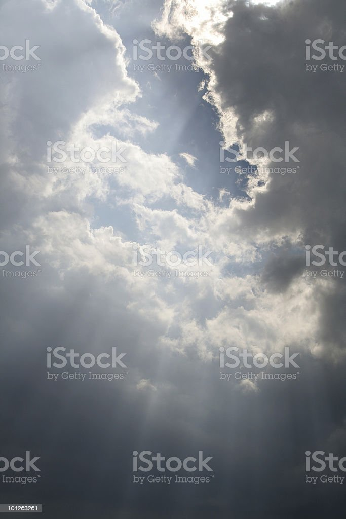 Beams from Heaven royalty-free stock photo