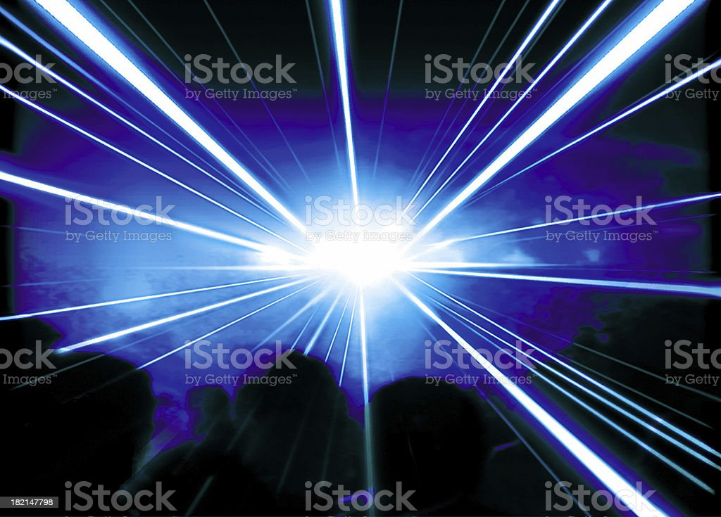Beams of Laser - 02 stock photo