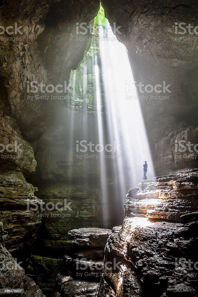 Beams of light stock photo