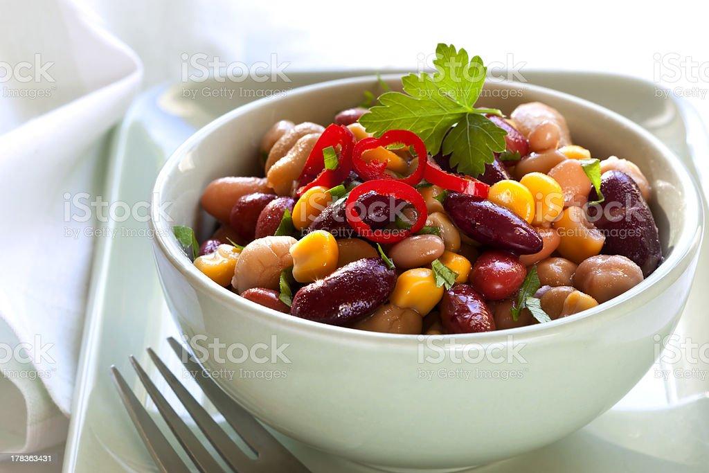 Bean and Corn Salad with Chili stock photo