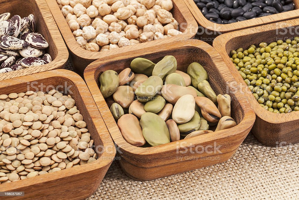 bean and lentil set royalty-free stock photo