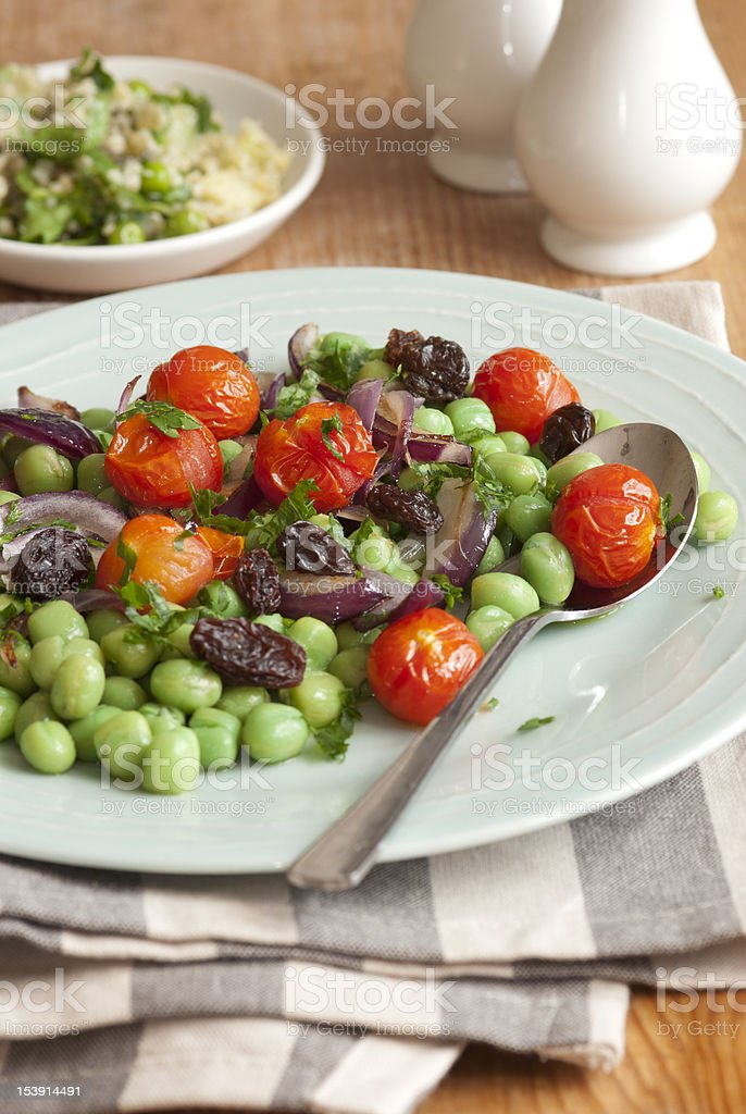 Bean and tomato salad royalty-free stock photo