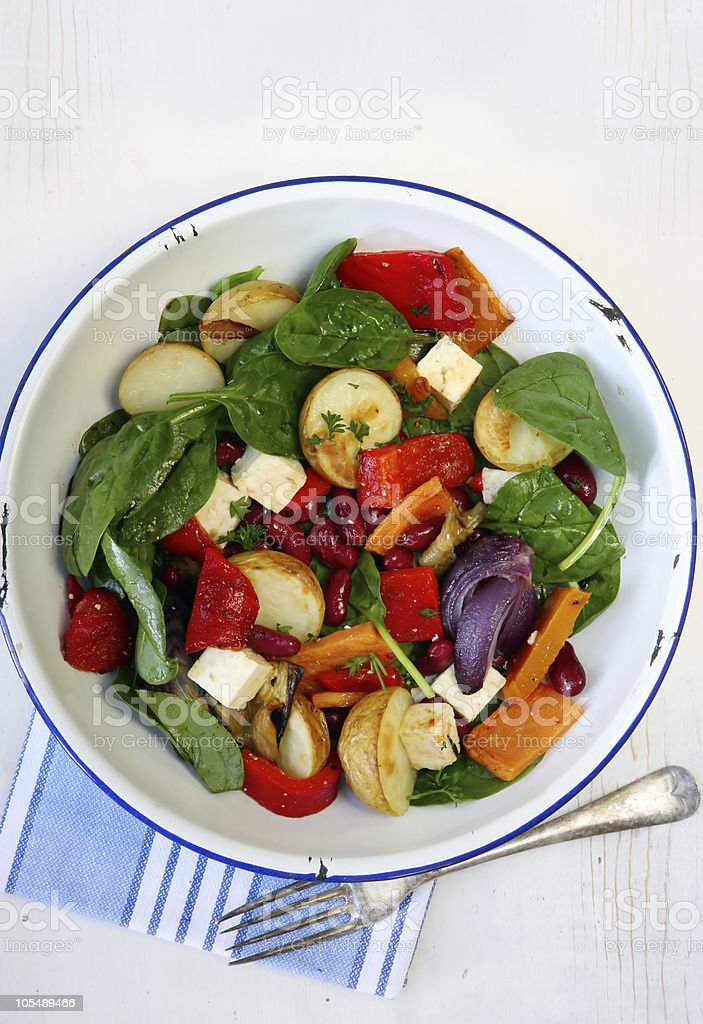 Bean and Vegetable Salad royalty-free stock photo