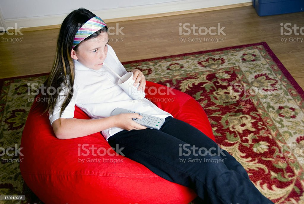 Bean Bag Girl royalty-free stock photo