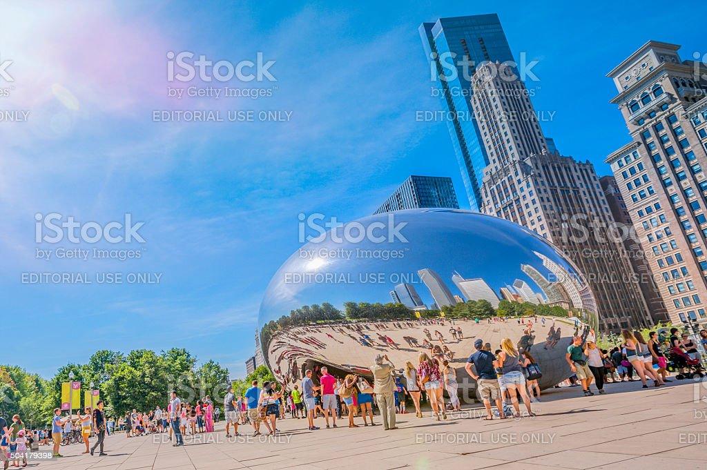 Bean of Chicago Millennium Park, Illinois, USA stock photo