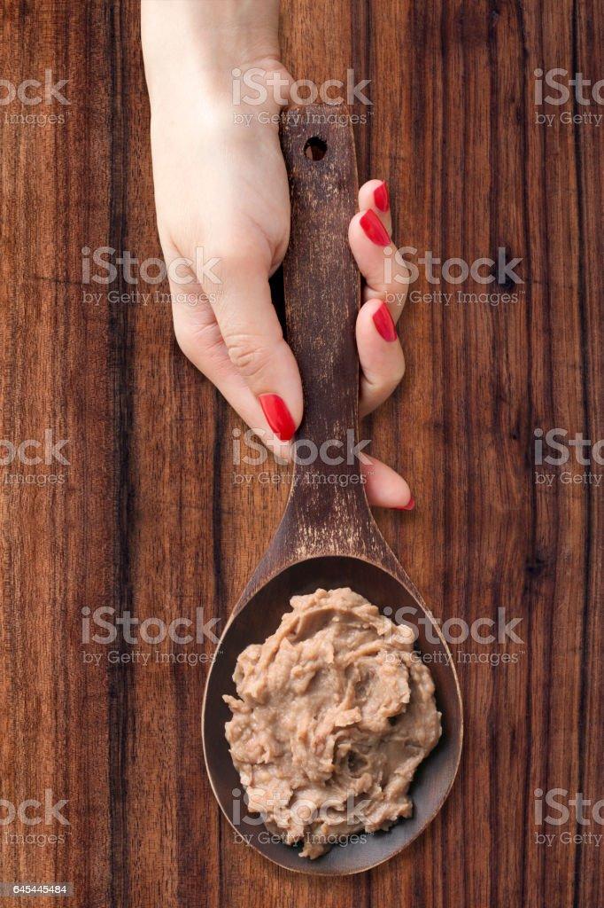 Bean paste stock photo