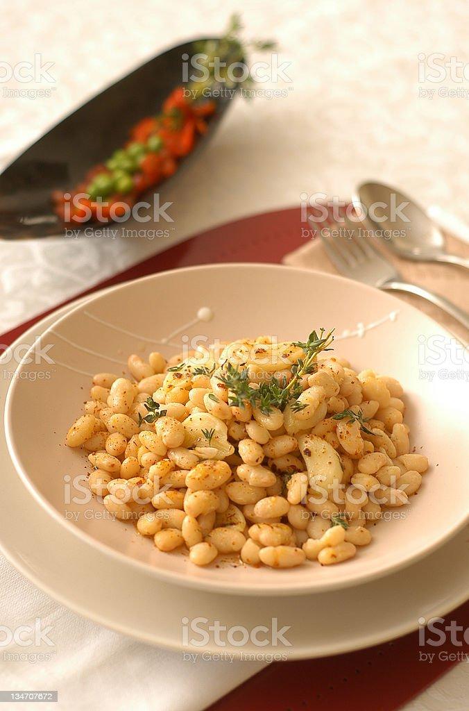 bean salad stock photo