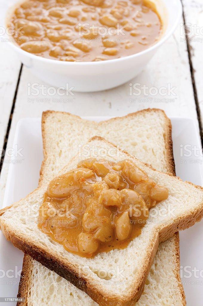 Bean sandwich royalty-free stock photo