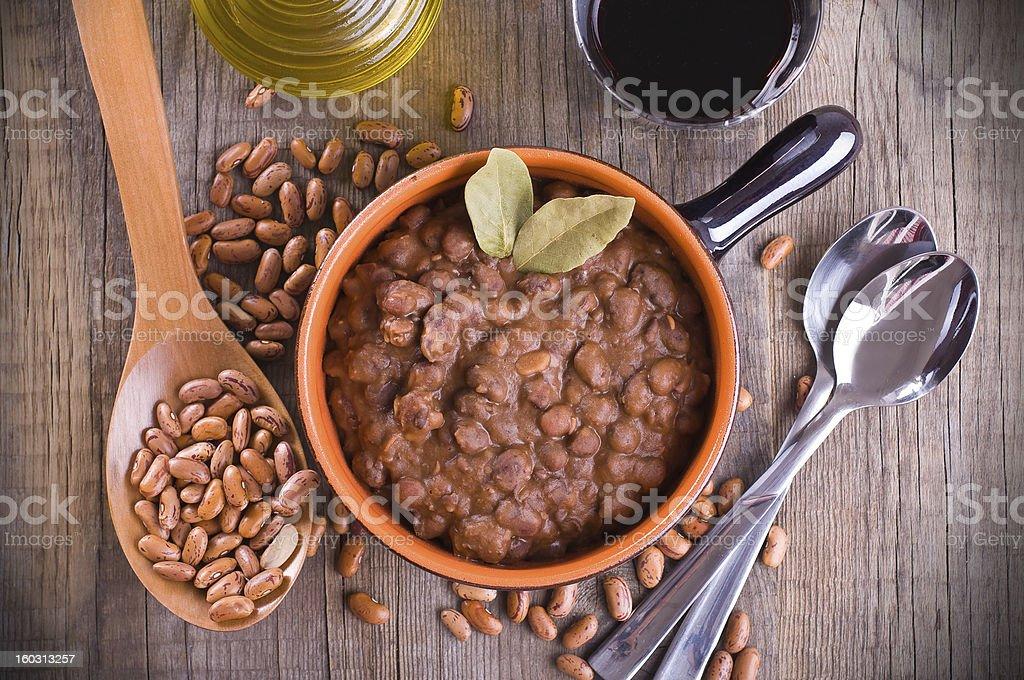 Bean soup. stock photo
