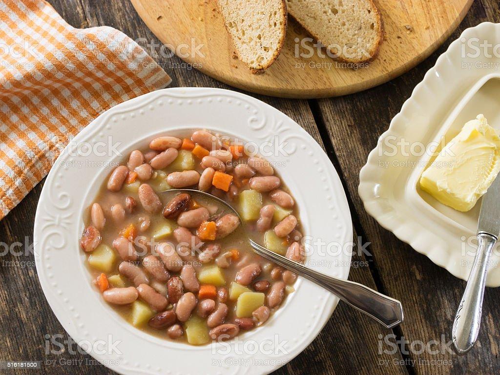 Bean soup royalty-free stock photo