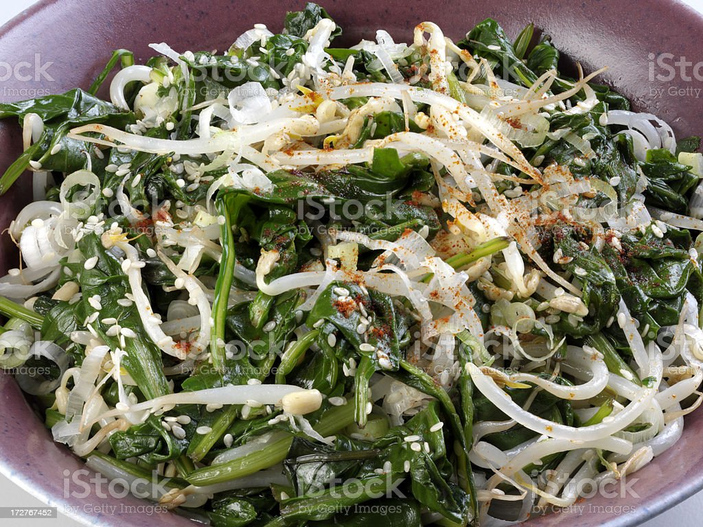 Bean Sprout Salad stock photo