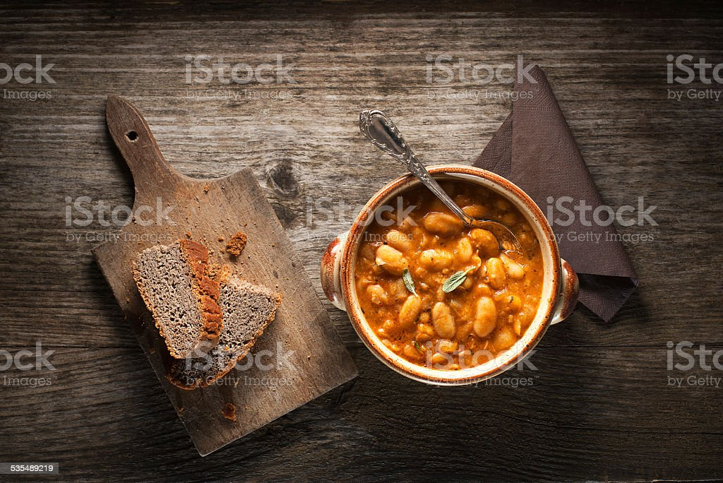 Bean stew stock photo