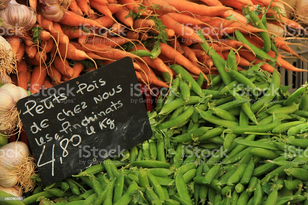 Beans and carrots stock photo