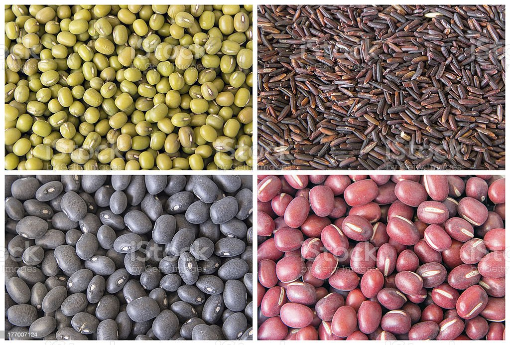 Beans and Grains Collage royalty-free stock photo