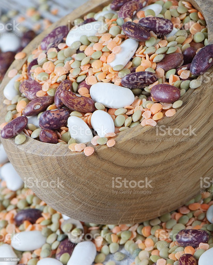 Beans and lentils royalty-free stock photo