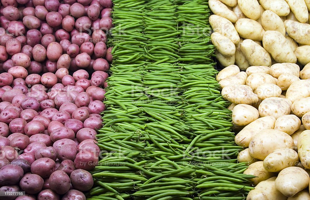 Beans and Potatoes royalty-free stock photo