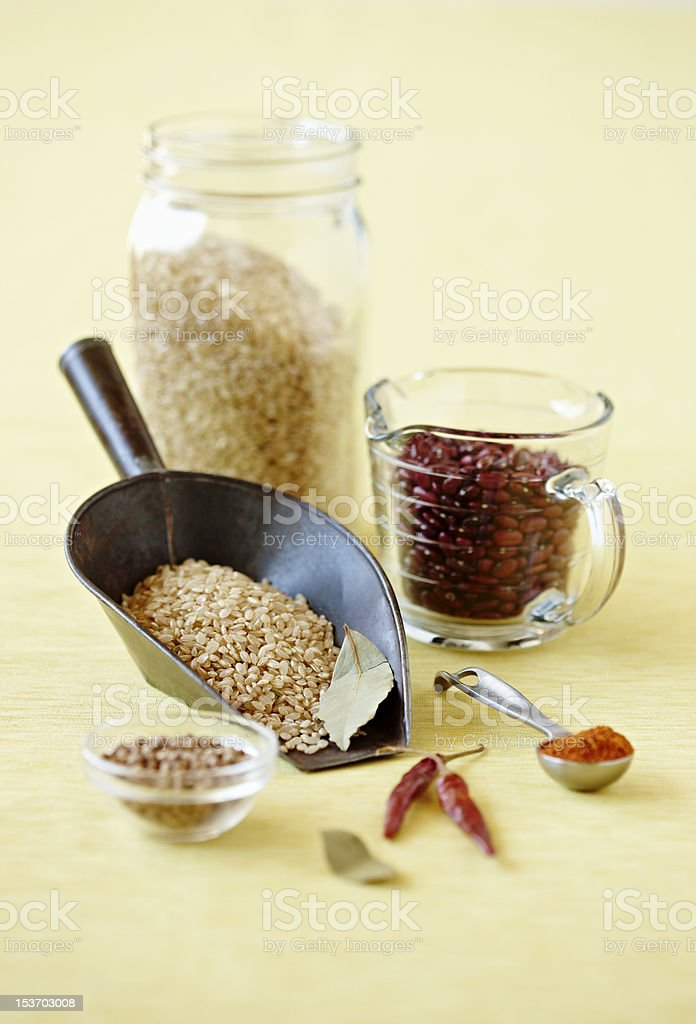 Beans and Rice royalty-free stock photo