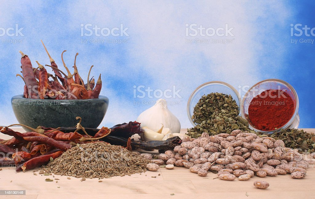 Beans and Spices royalty-free stock photo