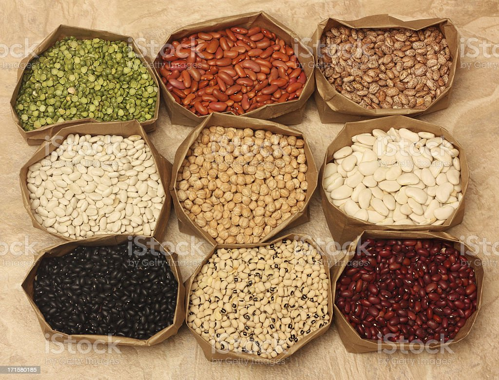 Beans background stock photo