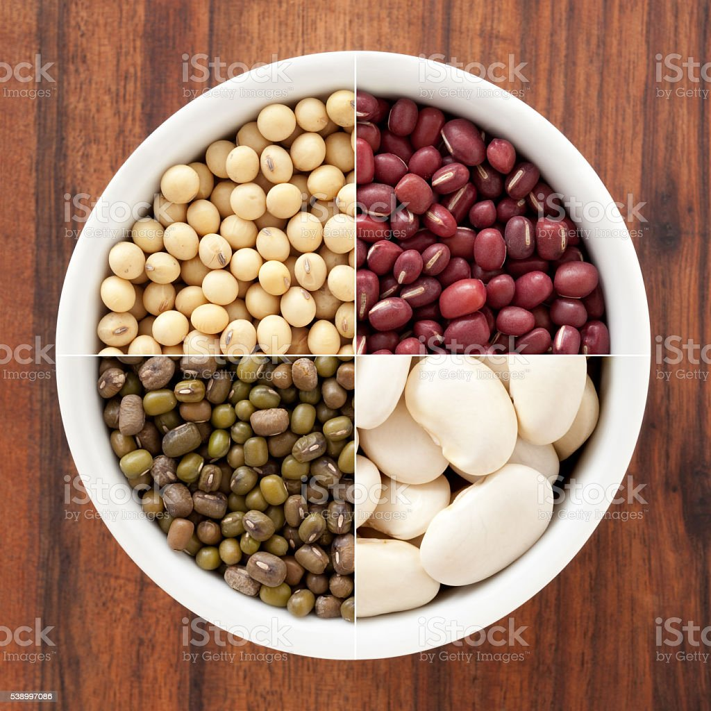 Beans composition stock photo