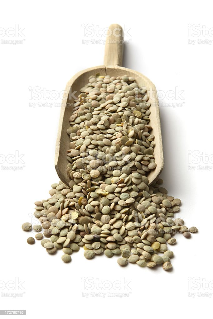 Beans: Green Lentil royalty-free stock photo