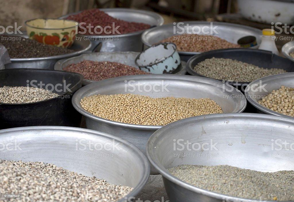 Beans in Ho, Ghana stock photo