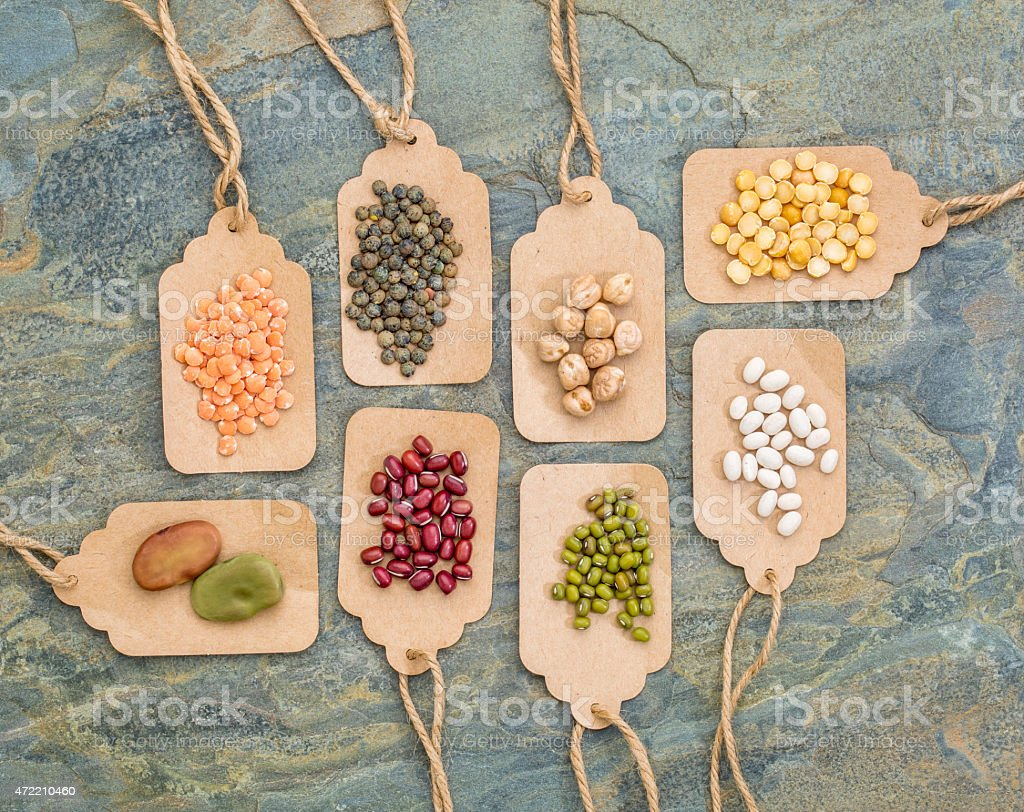 beans, lentils, pea and soy abstract stock photo