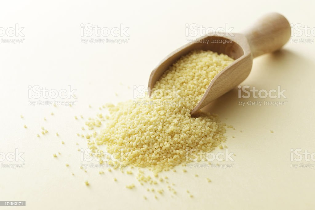 Beans, Lentils, Peas and Grains: Couscous royalty-free stock photo