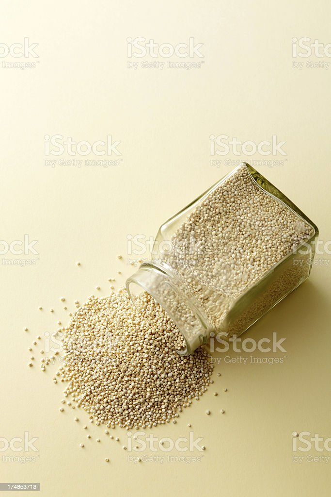 Beans, Lentils, Peas and Grains: Quinoa Still Life royalty-free stock photo