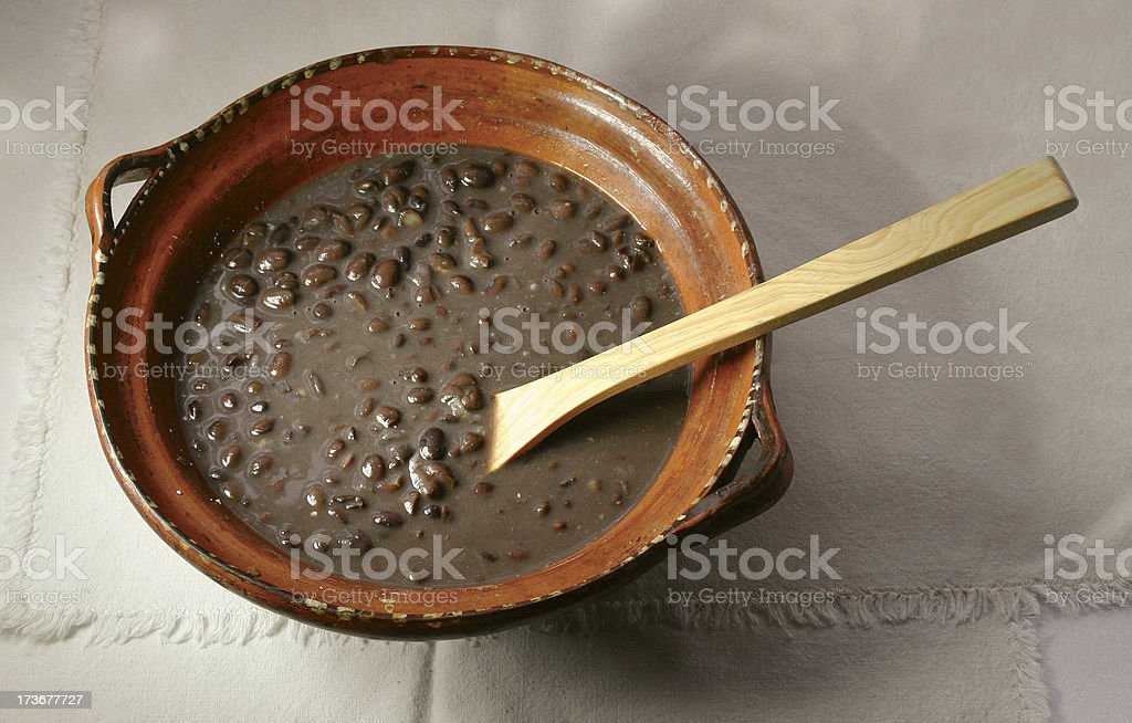 Beans on a casserole royalty-free stock photo