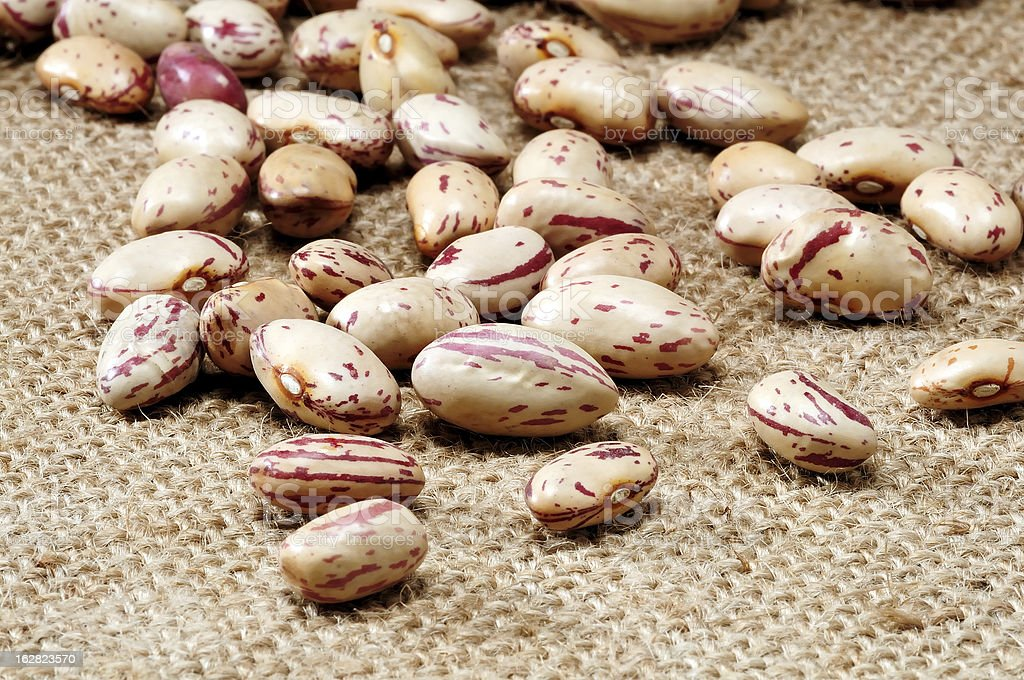 Beans on canvas royalty-free stock photo