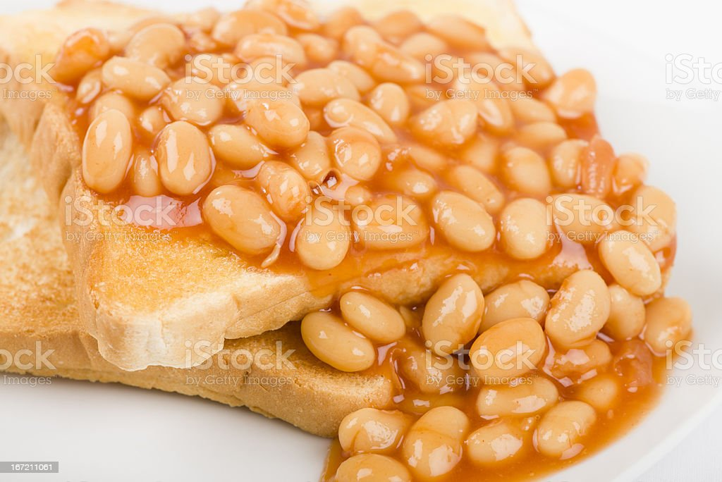 Beans on Toast royalty-free stock photo